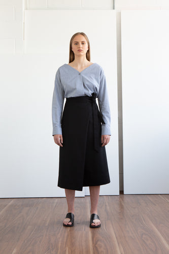 BENJAMIN Wool Wrap Skirt