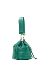 Load image into Gallery viewer, Mini Emerald Green Ju Bucket Bag