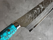 Yu Kurosaki Fūjin Gyuto 210mm - Limited edition turquoise handle