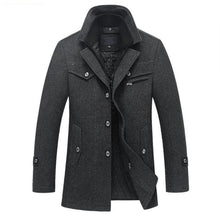 Load image into Gallery viewer, New Winter Wool Coat Slim Fit Jackets Mens Casual Warm Outerwear Jacket and coat Men Pea Coat Size M-4XL DROP SHIPPING