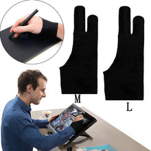 Load image into Gallery viewer, Artist Tablet Gloves Oil Pencil Painting Graphic iPad for Monitor Graphic Pro with Two Tablet Fingers Drawing and