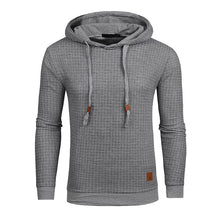 Load image into Gallery viewer, Drop Shipping Plaid Hoodies Men Long Sleeve Solid Color Hooded Sweatshirt Male Hoodie Casual Sportswear US Size Free Shipping