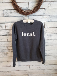 Local Unisex Sweatshirt (HEATHER GREY/White Font)