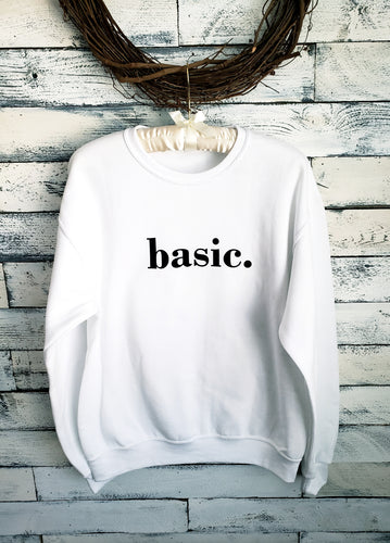 Basic Unisex Sweatshirt (WHITE)