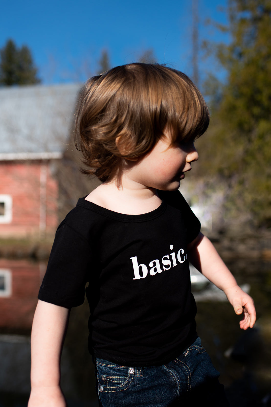 Basic Unisex Kids Tee (BLACK)