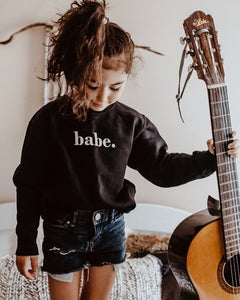 Babe Unisex Kids Sweater (BLACK)