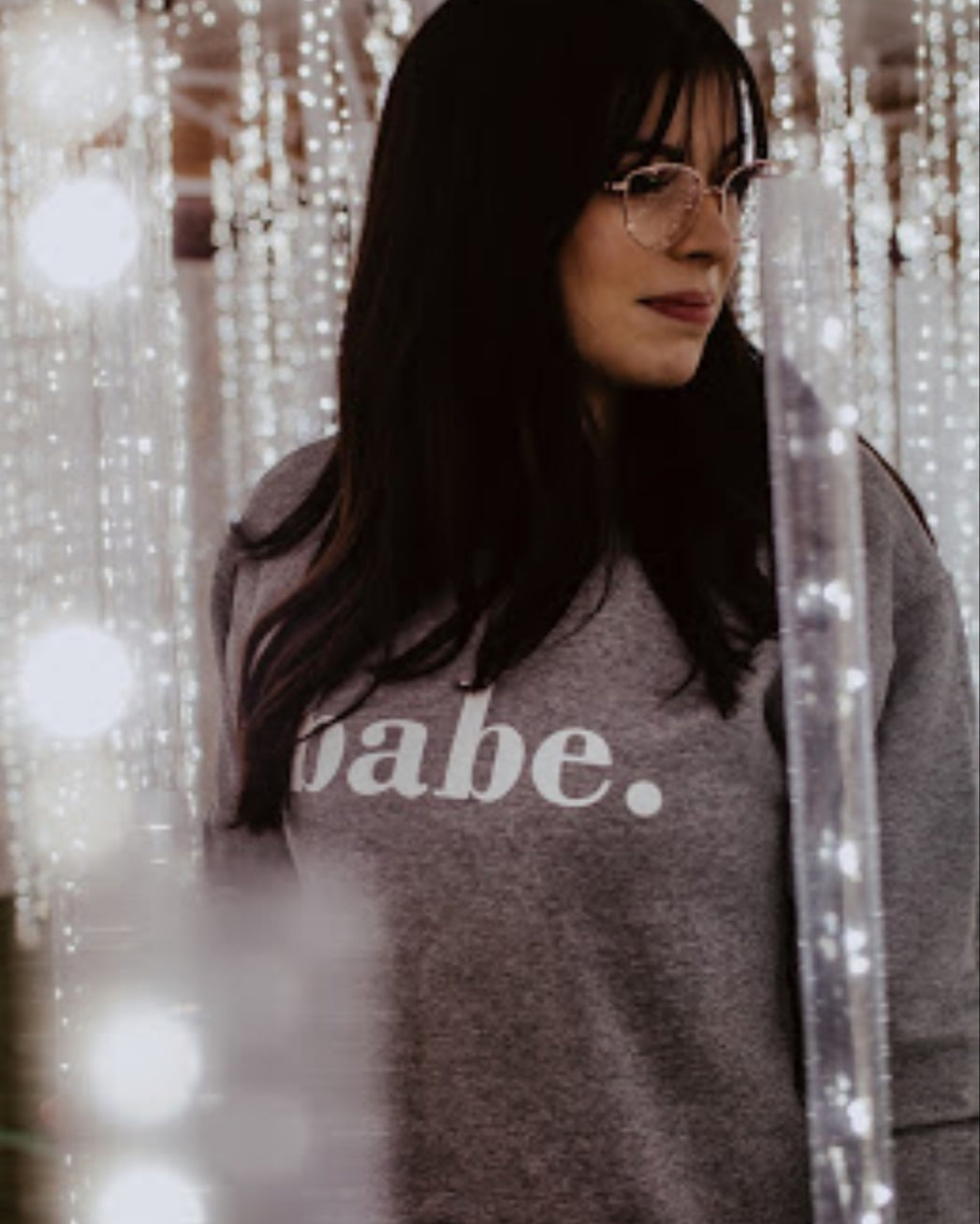 Babe Unisex Sweatshirt (GREY/ WHITE)