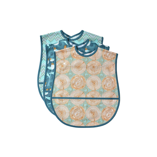 3 extra large vinyl covered adult bibs