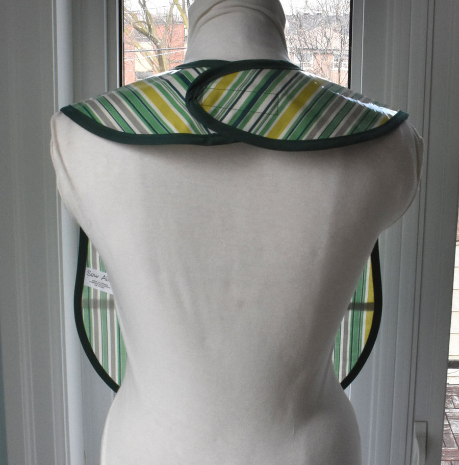 Awning Stripe Vinyl Adult Bib