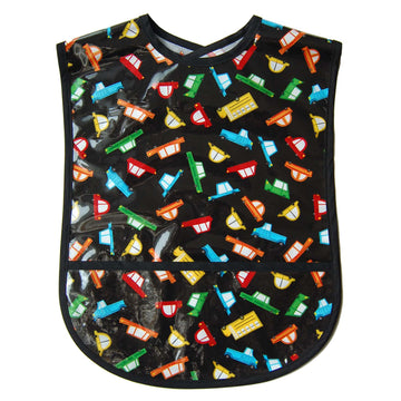 Cars to Go Vinyl Adult Bib