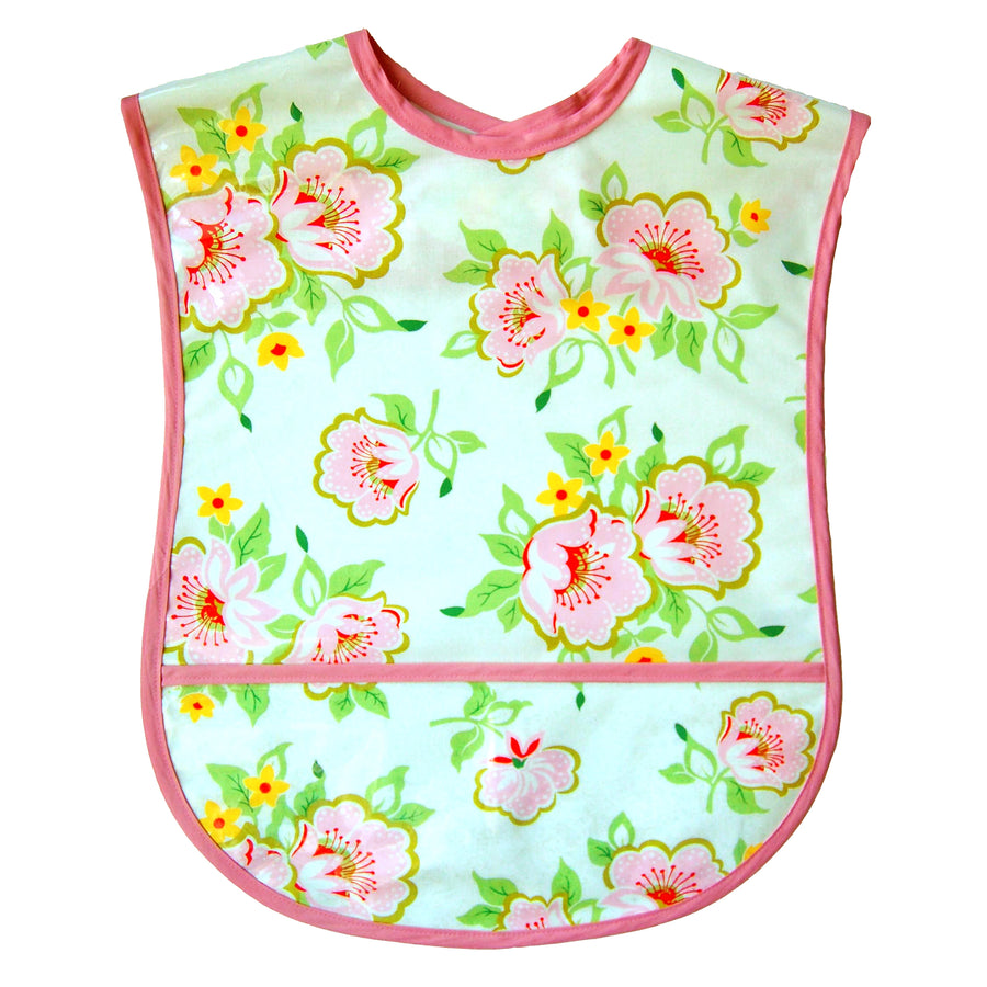 Church Flowers Vinyl Adult Bib