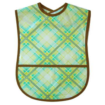 Diamond Plaid Vinyl Adult Bib