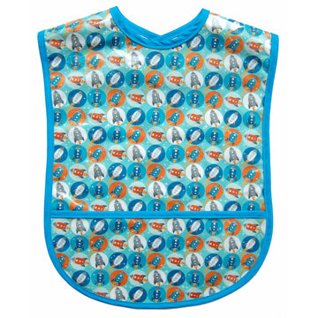Blue Rocket Vinyl Adult Bib