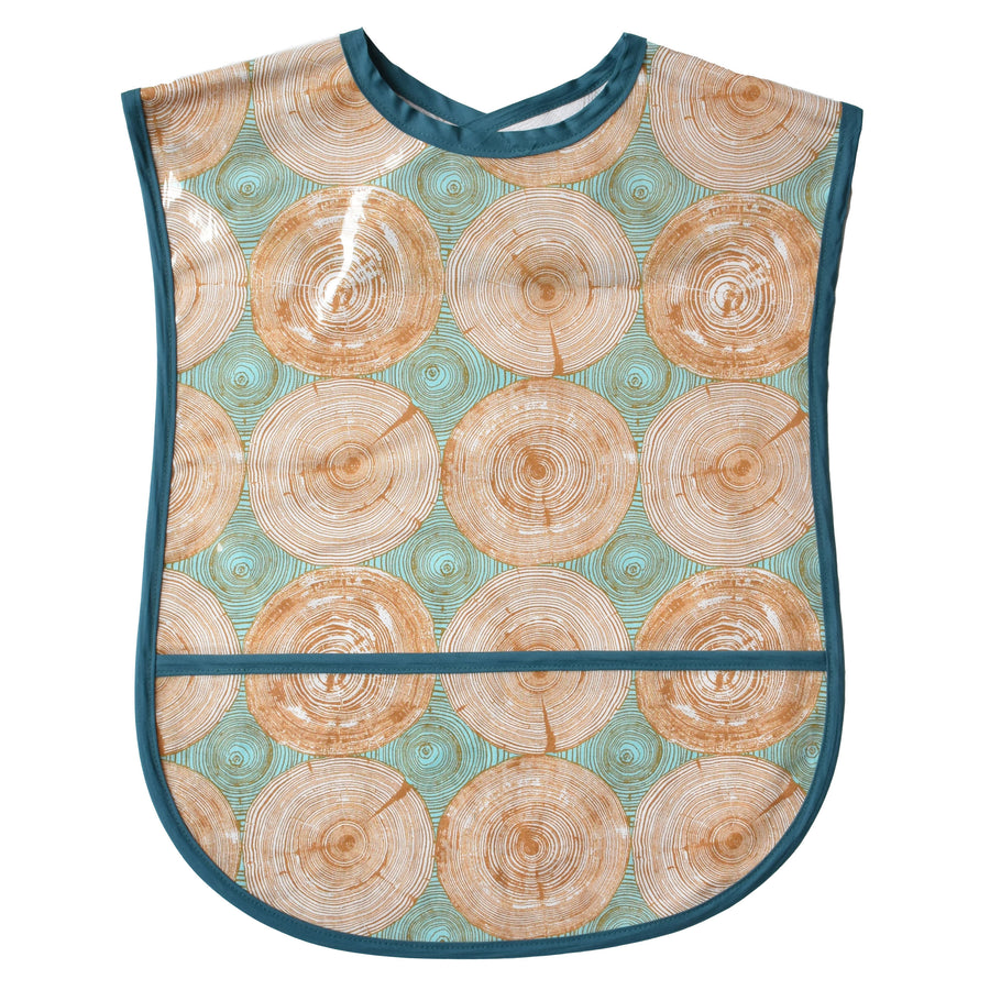 Tree Rings Vinyl Adult Bib