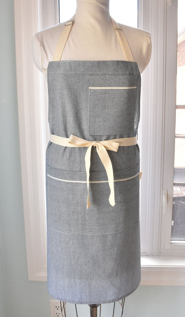 Pinstripe Denim Shop/Chef's Apron