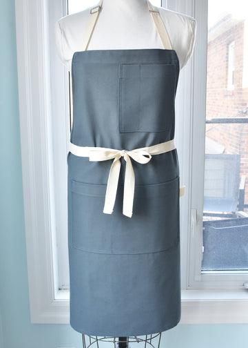 Soft Blue Twill Shop/Chef's Apron