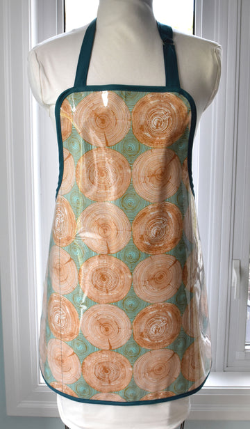 Tree Rings Vinyl Apron