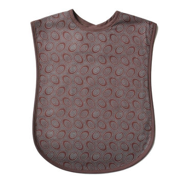 Chocolate Dots Reversible Adult Bib