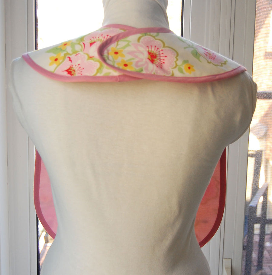 Church Flowers Reversible Adult Bib