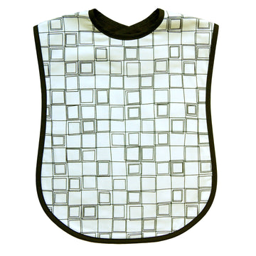 White Cubes Reversible Adult Bib