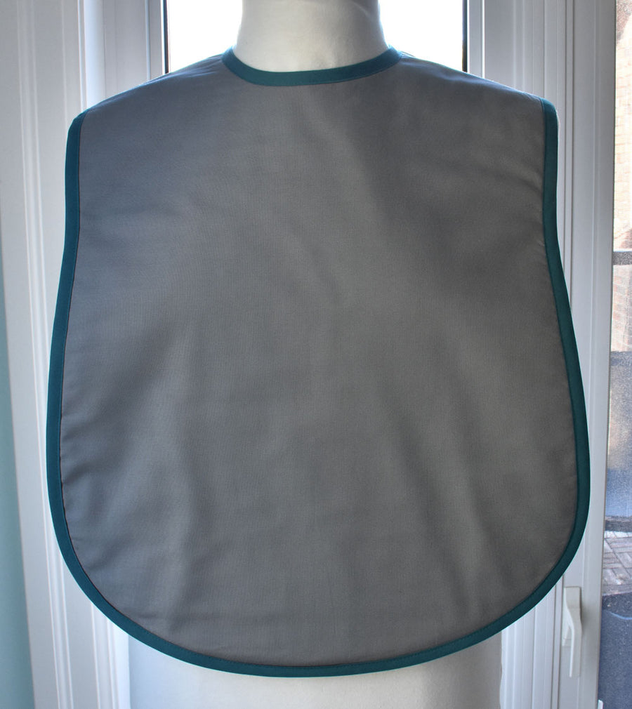 Blue Peacock Reversible Adult Bib