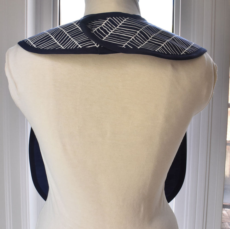 Herringbone Reversible Adult Bib