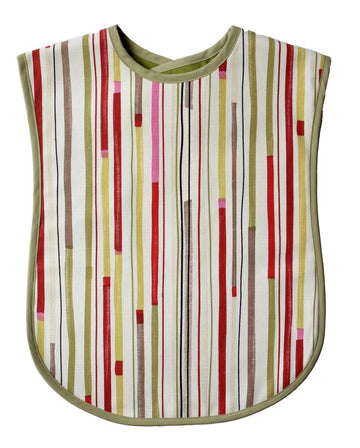 Multi-Stripe Reversible Adult Bib
