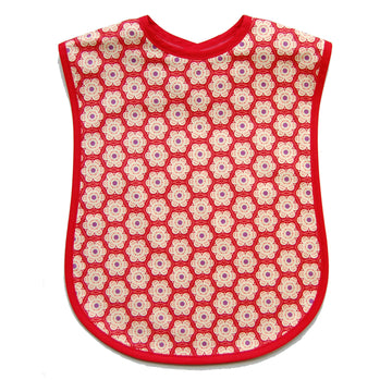Red Poppy Reversible Adult Bib