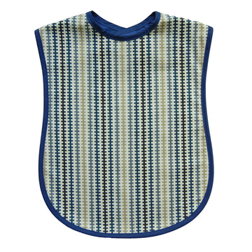 Navy Tracks Reversible Adult Bib