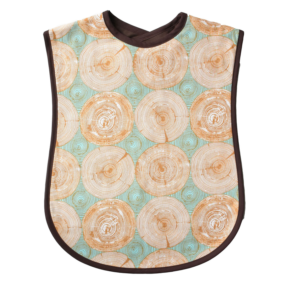 Tree Rings Reversible Adult Bib
