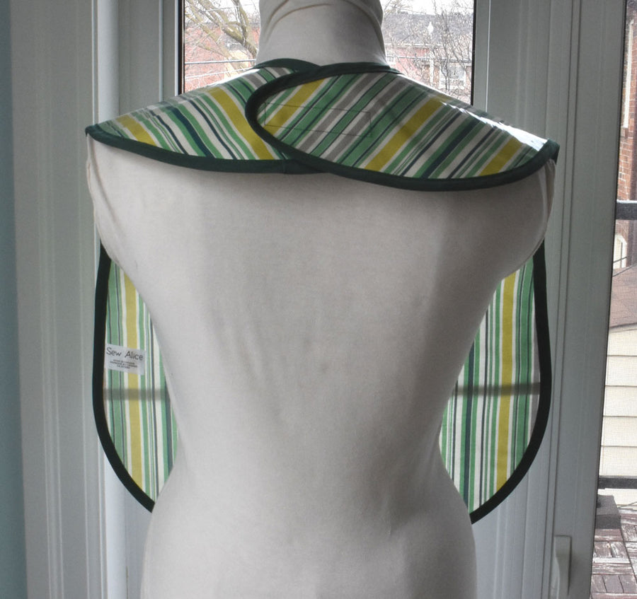 Awning Stripe Extra Large Adult Bib