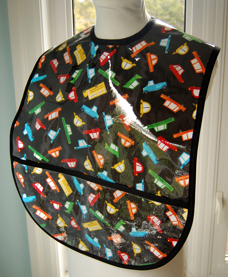 Cars to Go Extra Large Adult Bib