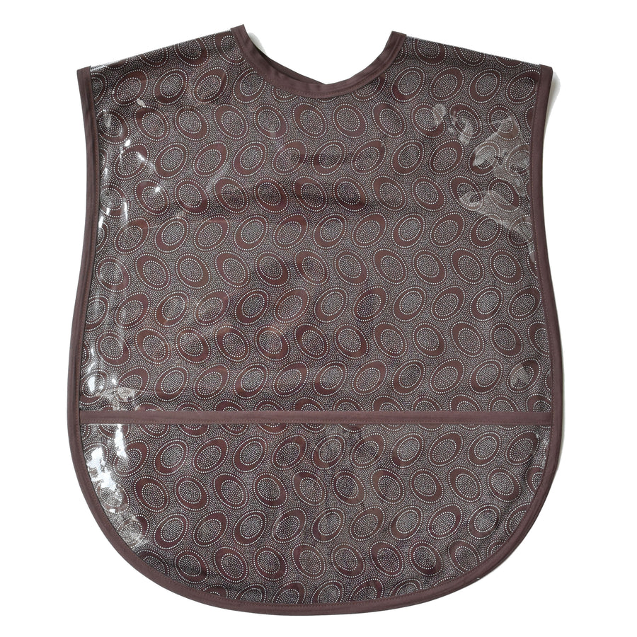 Chocolate Dots Extra Large Adult Bib