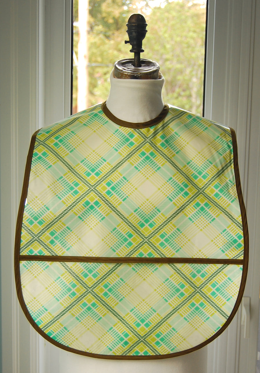 Diamond Plaid Extra Large Adult Bib