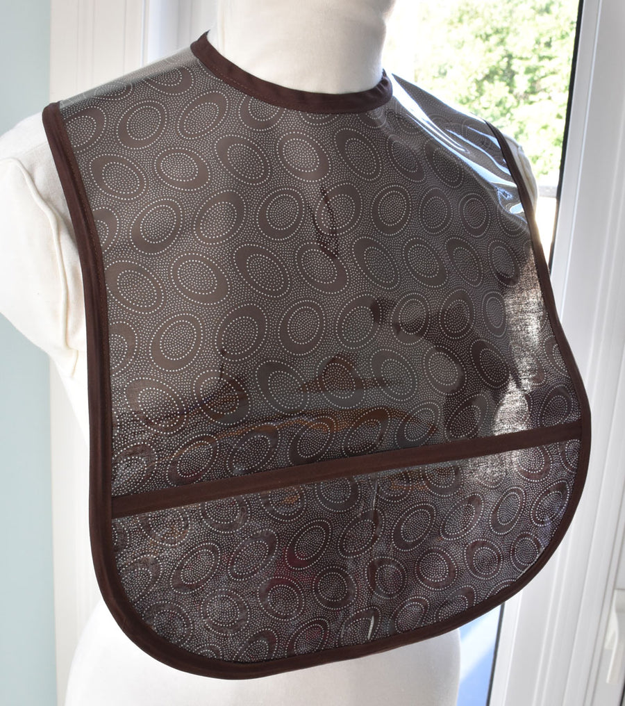 Chocolate Dots Small/Youth Adult Bib