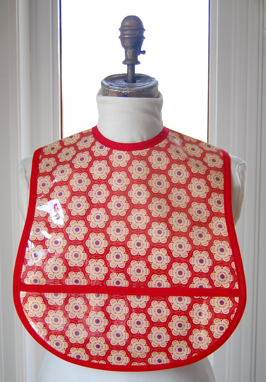 Red Poppy Small/Youth Adult Bib