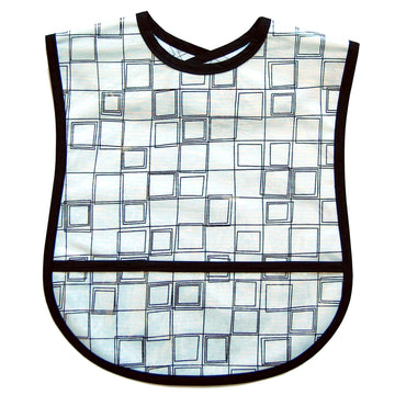 White Cubes Small/Youth Adult Bib