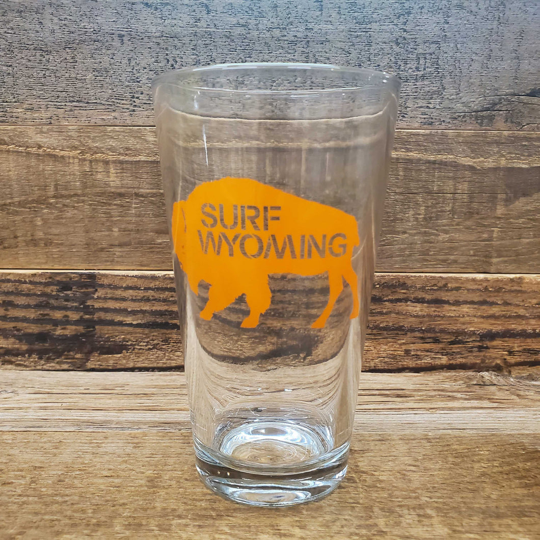 Surf Wyoming-Surf Wyoming® SKITTLES Bison Pint - ORANGE PRISMATIC-Orange Prismatic Bison Pint-