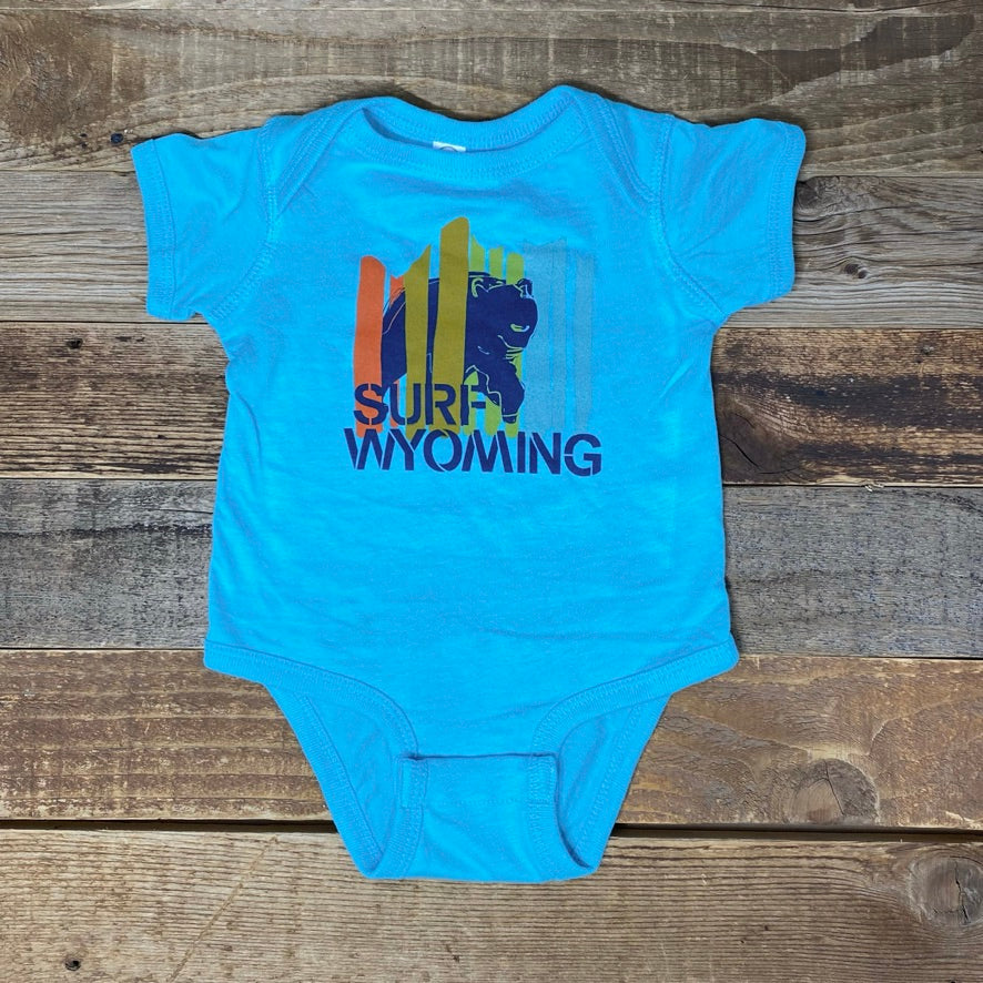 Infant Bear Peak Onesie - Caribbean