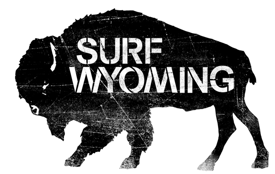 Surf Wyoming® Classic Bison Logo Sticker