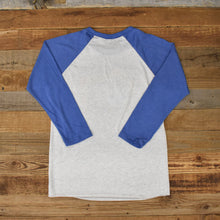 Load image into Gallery viewer, Unisex Prismatic Bison Baseball Tee - White/Royal
