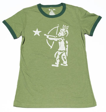 Women's Surf Wyoming® Shooting Star Ringer Tee - Light Pine Green
