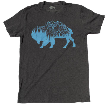 Men's SURF WYOMING® Bison Peak Tee- Charcoal