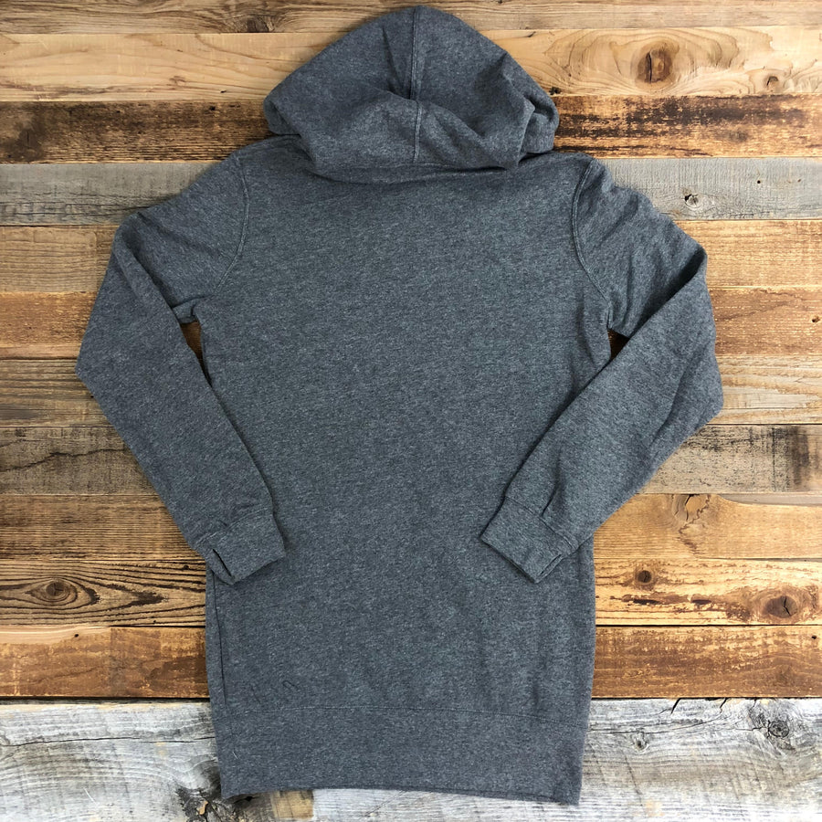 Women's SURF WYOMING Bison Logo Hoodie Dress - Heather Grey