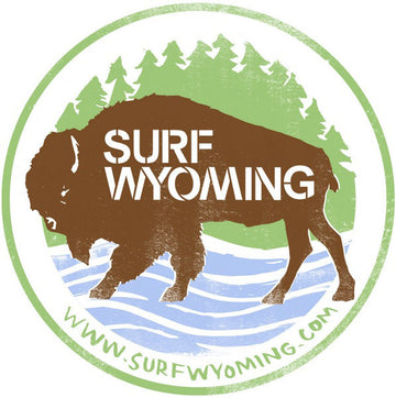 Surf Wyoming® First Park Bison Sticker
