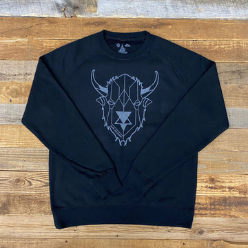 Men's Digi Bison Sweatshirt - Black/Grey