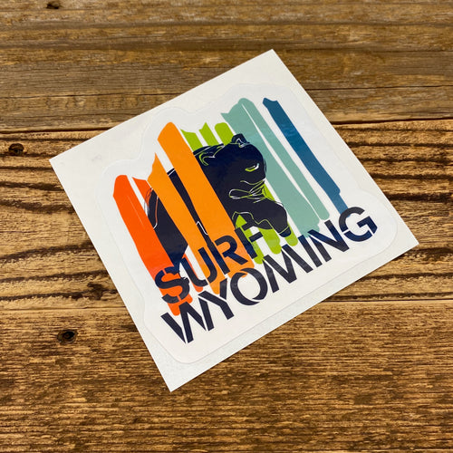 Surf Wyoming-Surf Wyoming Bear Peak Sticker - Multicolor-