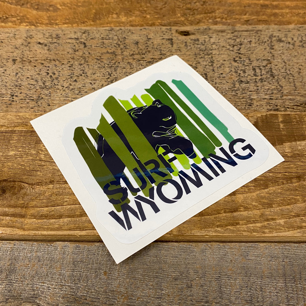 Surf Wyoming-Surf Wyoming Bear Peak Sticker - Green-