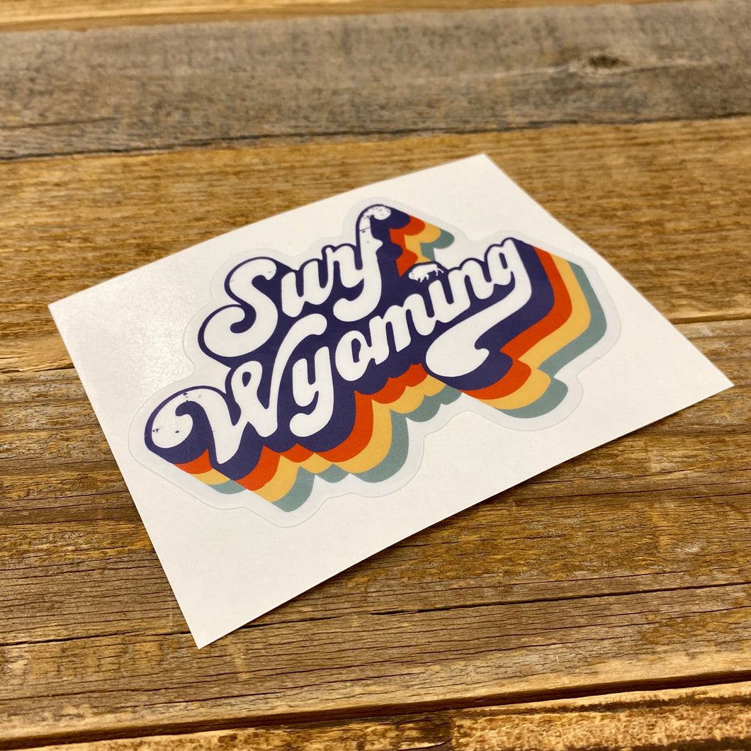 Surf Wyoming-Surf Wyoming Soda Script Sticker-