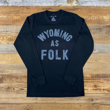 Men's Wyoming As Folk Long Sleeve - Black/Grey